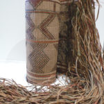 Woven Straw Leather Carpet – Tuareg – NigerWoven Straw Leather Carpet – Tuareg – Niger
