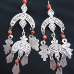 Old Berber Earrings – Crescent Moon – Khamsas – MoroccoOld Berber Earrings – Crescent Moon – Khamsas – Morocco