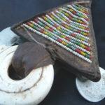 Tuareg Leather Talisman – Shells – NigerTuareg Leather Talisman – Shells – Niger