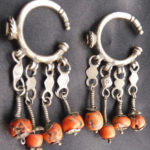 Earrings Silver Coral – Berber, MoroccoEarrings Silver Coral – Berber, Morocco