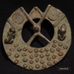 Dogon Bronze Amulet – Sun Disk and Frogs – Mali