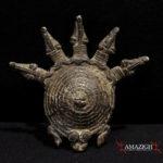 Lobi Bronze Amulet – Snakes and Turtle – Burkina Faso