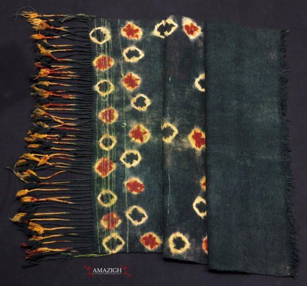 Berber Woman's Headscarf – TAJIRA – Tie and Dye – Taoujout, Southern Tunisia