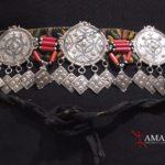 Berber Headband – Silver, Niello Decorations – South Morocco