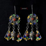 Berber Earrings – Silver, Coral – Kabyle Tribe, Algeria