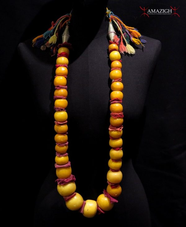 Berber Resin-Amber Necklace – Ait Atta Tribe – Morocco