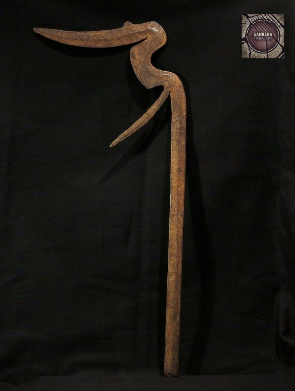 Old African Sceptre Throwing Knife – MUSRI – Tibbu, Teda, Zaghawa Tribes – CHAD