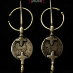 Antique Pair Berber Fibulae – TIZERZAI – Spanish Silver Coins, North Morocco