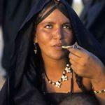 Tuareg Woman Smoking
