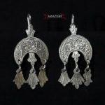 Old Berber Earrings – Hilal and Khamsas – Morocco