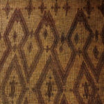 Old Large Woven Straw Leather Carpet – Tuareg – Mauritania