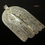Outstanding Antique Hand of Fatima – KHAMSA – HAMESH – Lizard – South, Morocco