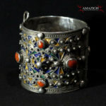 Old Berber Bracelet – Silver, Coral – Kabyle Tribe, Algeria – Outstanding Piece
