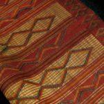 Fine Large Woven Straw Leather Carpet – Tuareg – Mauritania