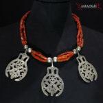 Outstanding Berber Necklace – Silver, Mediterranean Coral – Tunisia
