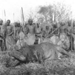 Kipsigis warriors photographed by American couple Martin and Osa Johnson in 1926